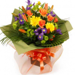 Vibrant bouquet flowers